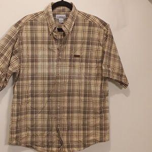 Mens Carhartt Short Sleeved Shirt Large L
